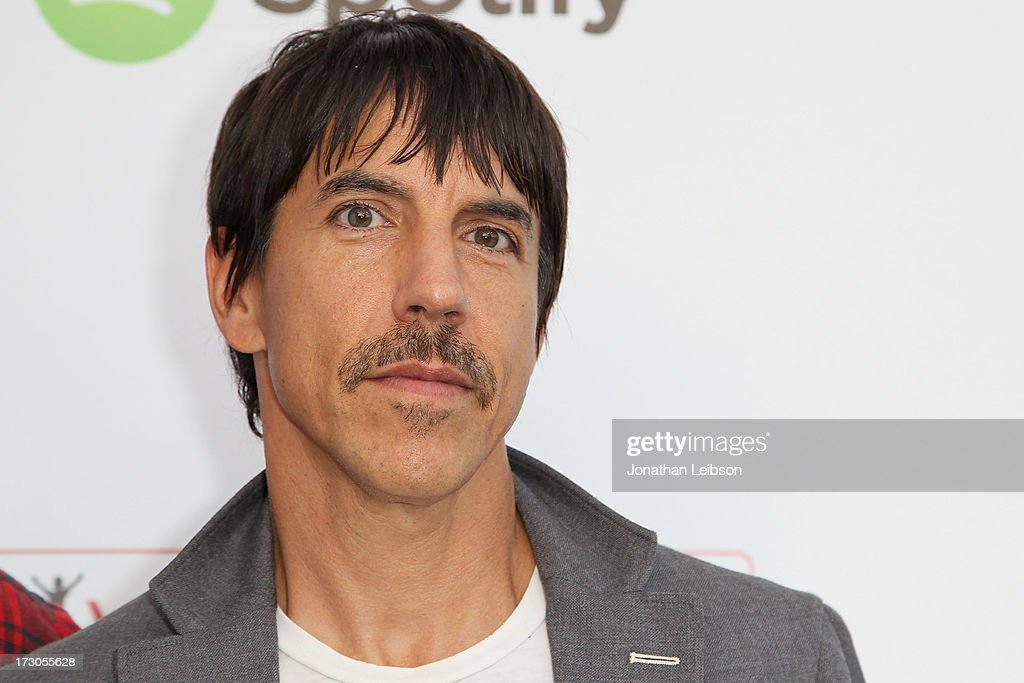 <a gi-track='captionPersonalityLinkClicked' href=/galleries/search?phrase=Anthony+Kiedis&family=editorial&specificpeople=202189 ng-click='$event.stopPropagation()'>Anthony Kiedis</a> attends the Guy Oseary's July 4th event in Malibu presented by Spotify and Live Nation with DeLeon and VitaCoco at Nobu Malibu on July 4, 2013 in Malibu, California.