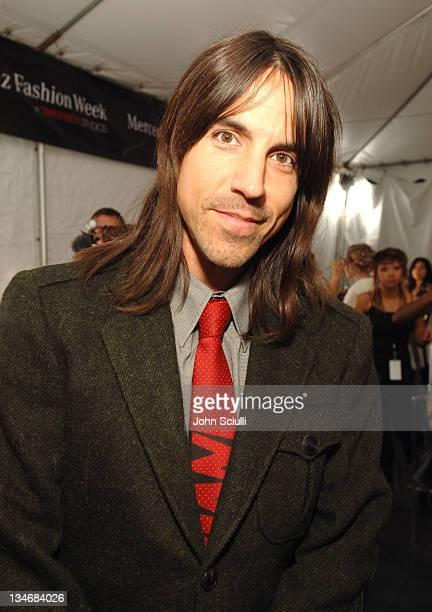 Anthony Kiedis backstage at Louis Verdad Spring 2006