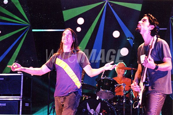 Anthony Kiedis Chad Smith And Dave Navarro Of Red Hot Chili Peppers Wireimage 111166793
