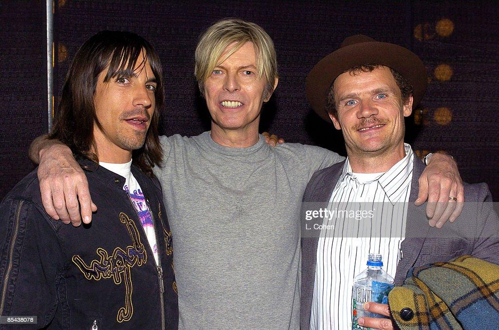 Anthony Kiedis David Bowie and Flea