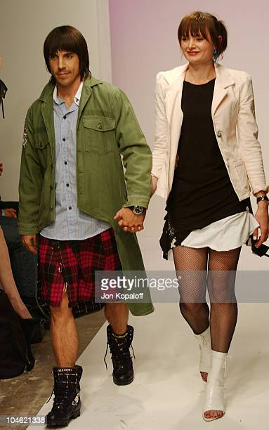 Anthony Kiedis designer Yohanna Logan during Playstation 2 Hosts Shawn At LA Fashion WeekFashion Show and Party at The Standard Hotel Downtown in Los...