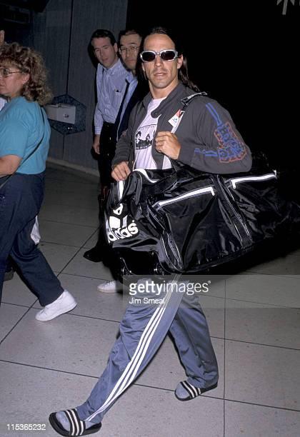 Anthony Kiedis during Anthony Kiedis Arriving at Los Angeles International Airport September 14 1998 at International Airport in Los Angeles...