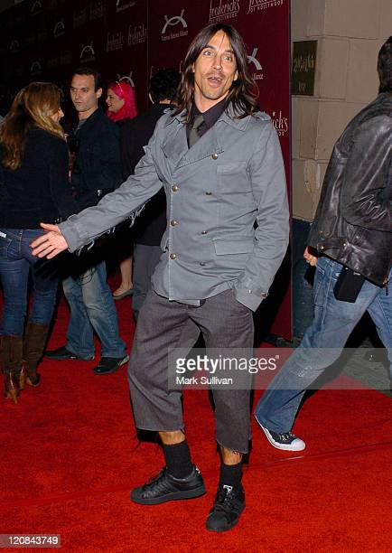 Anthony Kiedis during Frederick's of Hollywood Presents Their '2006 Spring Collection Fashion Show' Arrivals at The Avalon in Hollywood California...