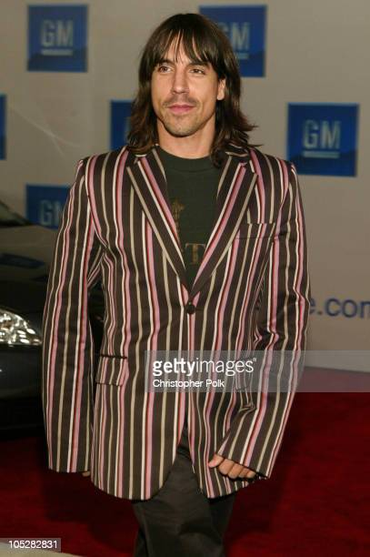 Anthony Kiedis during GM Rocks Award Season With Cars Stars and Fashion Arrivals and Inside at Sunset and Vine in Hollywood California United States