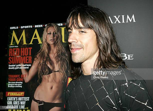 Anthony Kiedis during Maxim and Sobe Host 'Tale Slide' in Celebration of the 2004 XGames Red Carpet at Jim Hensen Studios in Hollywood California...
