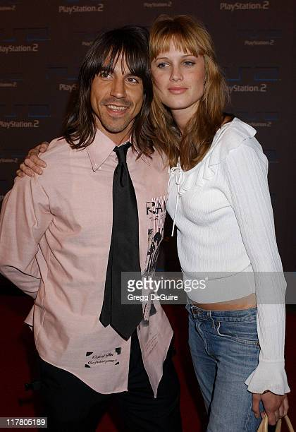 Anthony Kiedis during Playstation 2 Offers A Passage Into 'The Underworld' Arrivals at Belasco Theatre in Los Angeles California United States