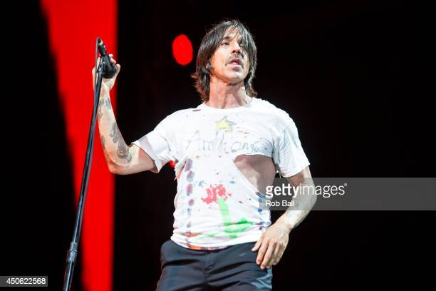 Anthony Kiedis from Red Hot Chili Peppers performs at The Isle of Wight Festival as Seaclose Park on June 14 2014 in Newport Isle of Wight