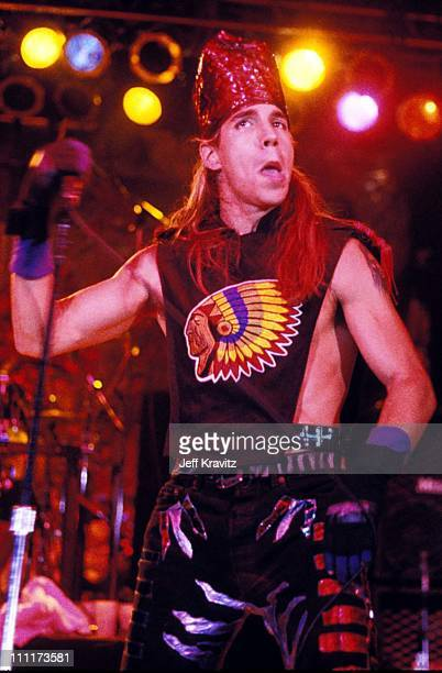 Anthony Kiedis of Red Hot Chili Peppers during Red Hot Chili Peppers in 1989 Concert in Los Angeles California United States