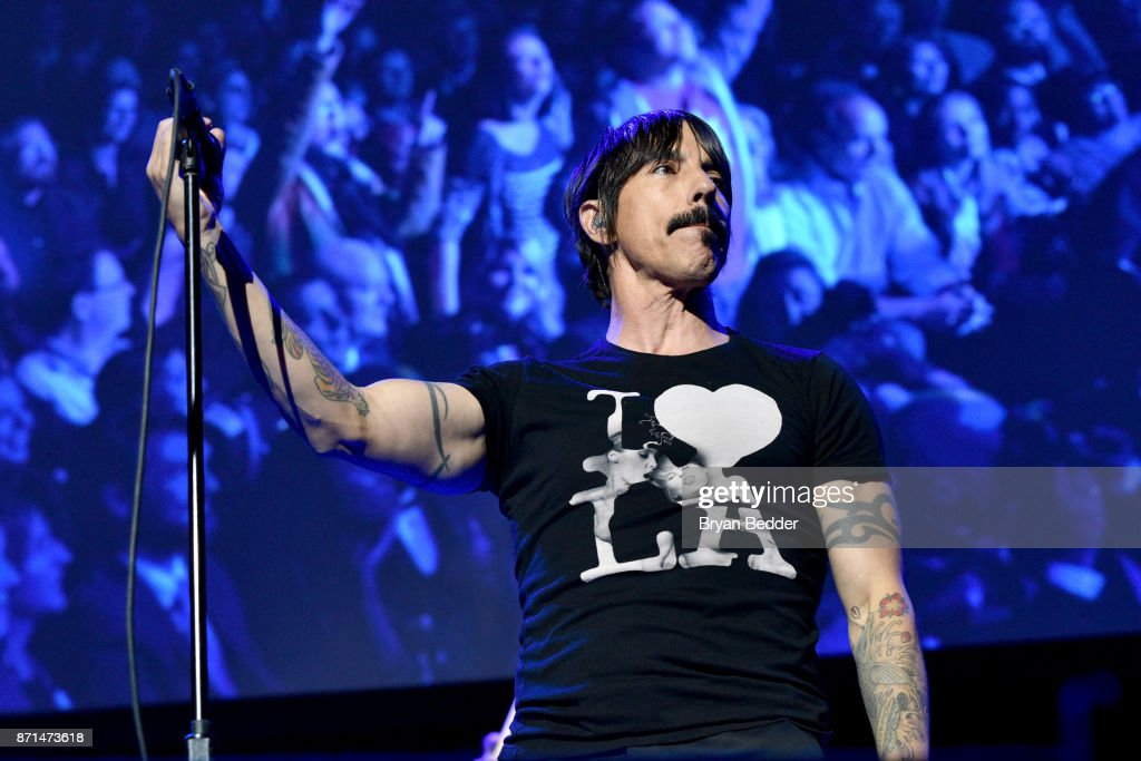 Anthony Kiedis of Red Hot Chili Peppers performs onstage during the 11th Annual Stand Up for Heroes Event presented by The New York Comedy Festival and The Bob Woodruff Foundation at The Theater at Madison Square Garden on November 7, 2017 in New York City.
