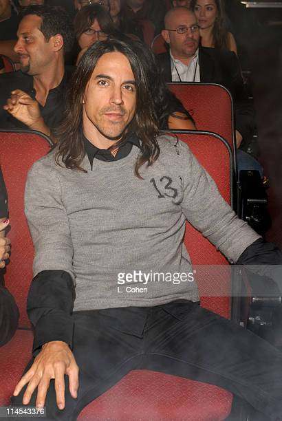 Anthony Kiedis of the Red Hot Chili Peppers during Fuse Fangoria Chainsaw Awards Show at Orpheum Theatre in Los Angeles California United States