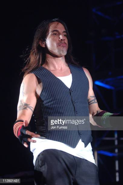 Anthony Kiedis of the Red Hot Chili Peppers during Red Hot Chili Peppers in Concert November 22 2006 at The Roundhouse in London Great Britain