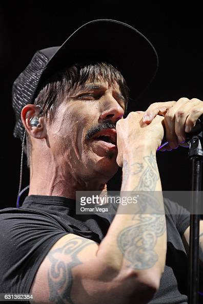 Anthony Kiedis of the Red Hot Chili Peppers performs during a show as part of The Getaway World Tour at the American Airlines Center on January 08...
