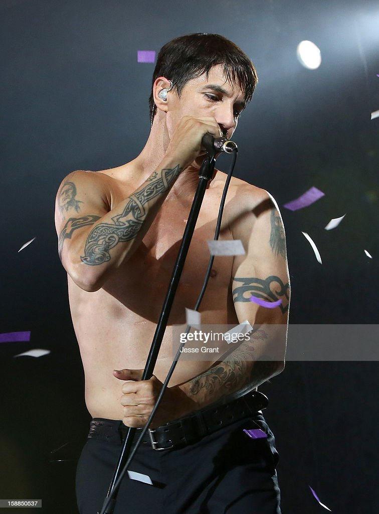 Anthony Kiedis of The Red Hot Chili Peppers performs on New Year's Eve at The Cosmopolitan of Las Vegas on December 31, 2012 in Las Vegas, Nevada.