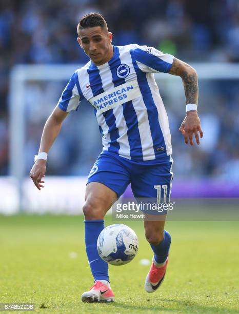 Anthony Knockaert of Brighton and Hove Albion in action during the Sky Bet Championship match between Brighton Hove Albion and Bristol City at Amex...