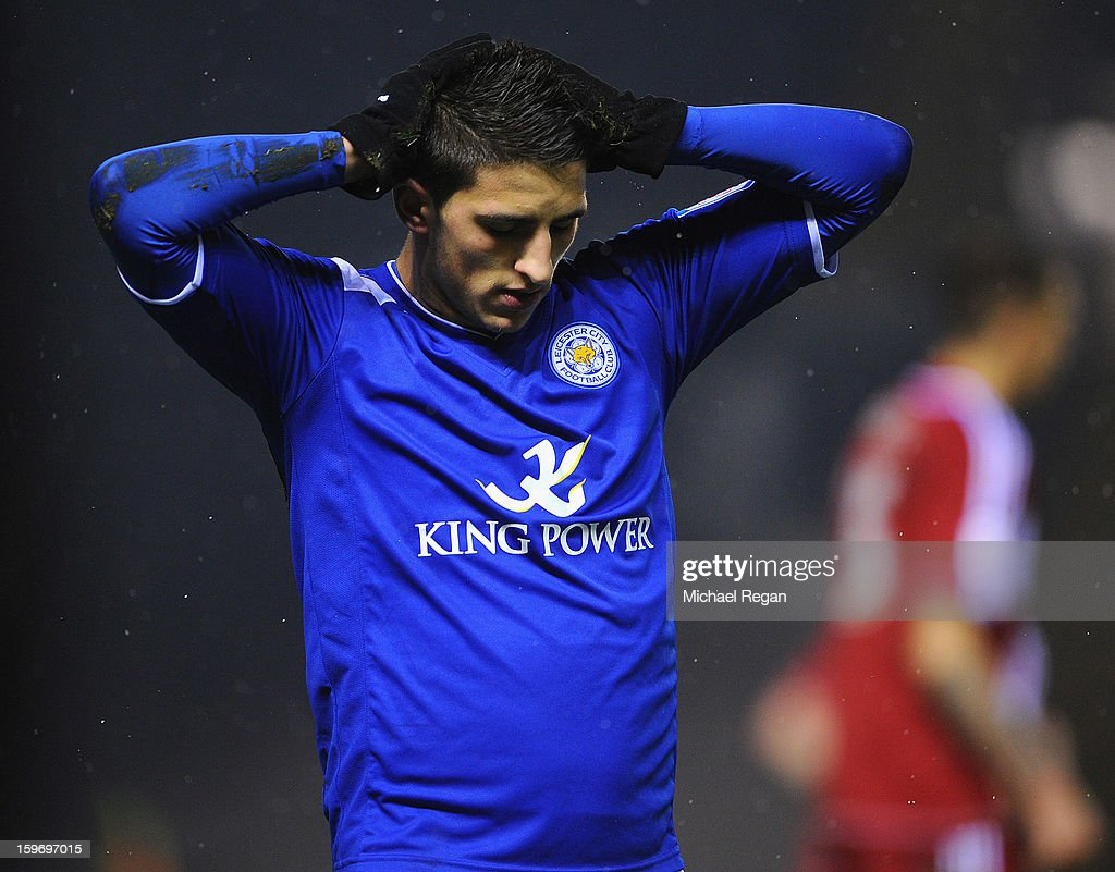 Anthony Knockaert of Leicester looks dejected during the Npower Championship between Leicester City and Middlesbrough at The King Power Stadium on January 18, 2013 in Leicester, England.