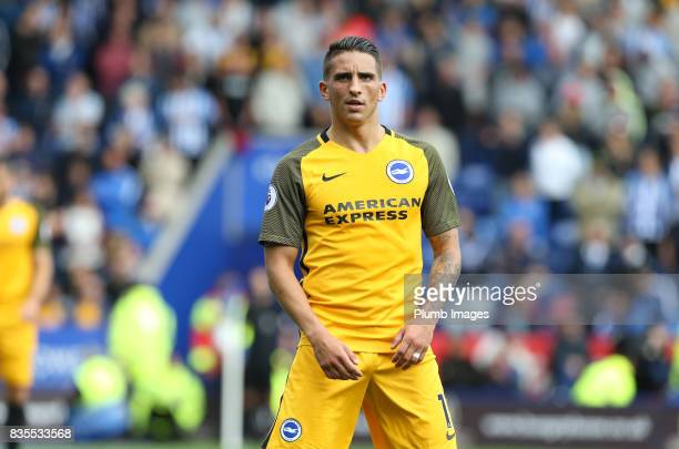 Anthony Knockhaert of Brighton and Hove Albion during the Premier League match between Leicester City and Brighton and Hove Albion at King Power...