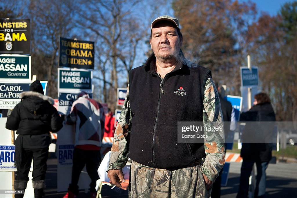 Anthony Lambrou, 55, poses for a portrait after voting at the St. Pius CCD Center in Manchester, New Hampshire on Election Day, November 6, 2012. Lambrou voted for Romney, and is a registered Republican.