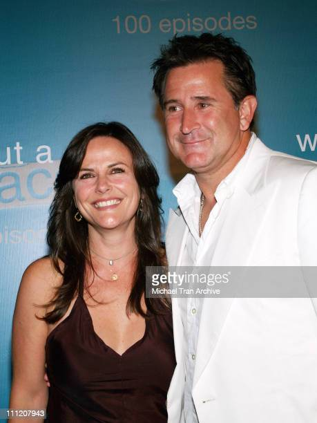 Anthony LaPaglia and wife Gia Carides during 'Without A Trace' Celebrate Their 100th Episode Party Arrivals at Cabana Club in Hollywood California...