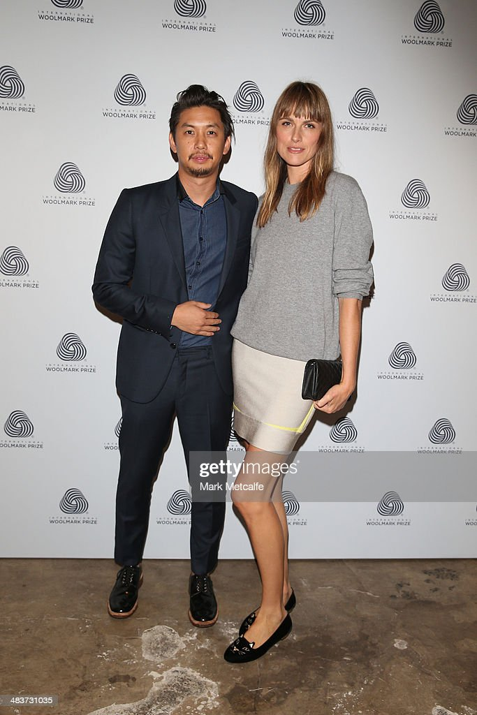 Anthony Lau and partner at the International Woolmark Prize during Mercedes-Benz Fashion Week Australia 2014 at Carriageworks on April 10, 2014 in Sydney, Australia.