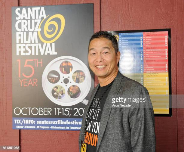 Anthony Lee Communications Director for the film 'The Rebound' attends the screening at the Santa Cruz Film Festival at Tannery Arts Center on...