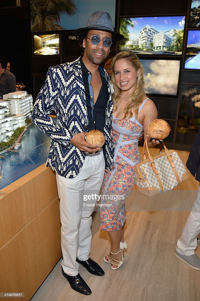 Anthony Liggins and Kristina Belkova attend Martha Stewart Celebrates South Beach Wine And Food Festival With DuJour Magazine's Jason Binn And Lee Brian Schrager At The Ritz-Carlton Miami Beach Residences on February 21, 2014 in Miami Beach, Florida.