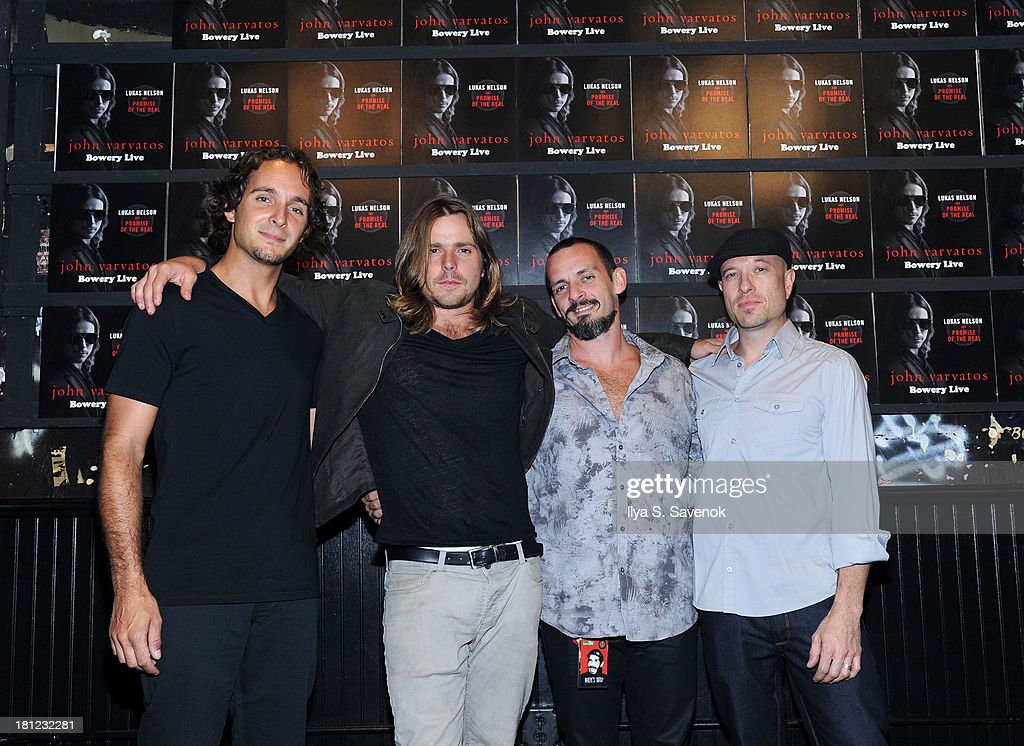 Anthony LoGerfo Lukas Nelson Tato Melgar and Corey McCormick attend John Varvatos Bowery Live Presents Lukas Nelson And Promise Of The Real on...