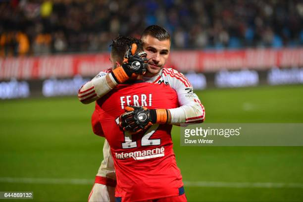 Anthony LOPES / Jordan FERRI Troyes / Lyon 12eme journee de Ligue 1 Photo Dave Winter / Icon Sport