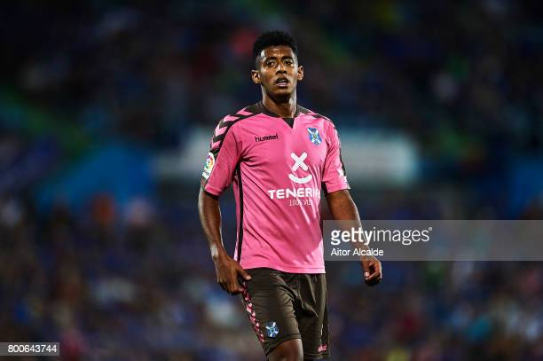 Anthony Lozano of CD Tenerife looks on during La Liga 2 play off round between Getafe and CD Tenerife at Coliseum Alfonso Perez Stadium on June 24...