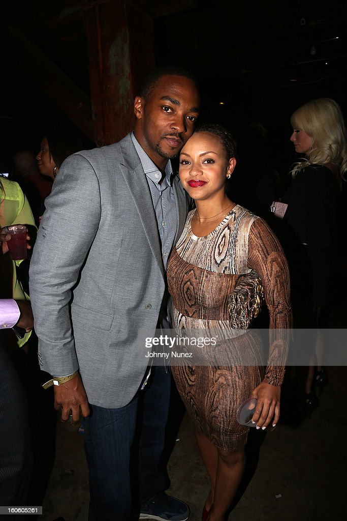Anthony Mackie (L) and guest attend the Jay-Z & D'Usse Super Bowl Party at The Republic on February 2, 2013, in New Orleans, Louisiana.