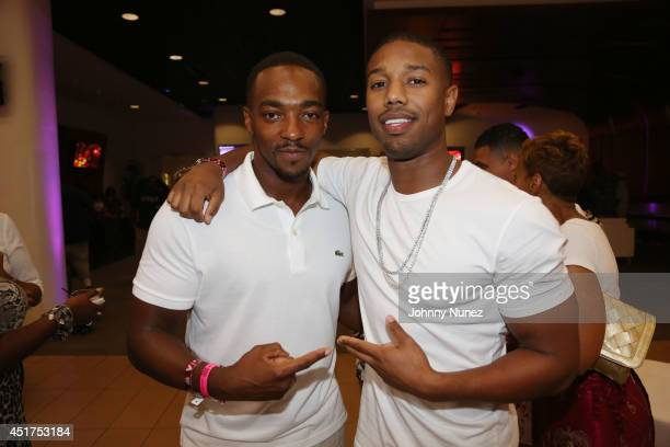 Anthony Mackie and Michael B Jordan attend the 2014 Essence Music Festival on July 5 2014 in New Orleans Louisiana