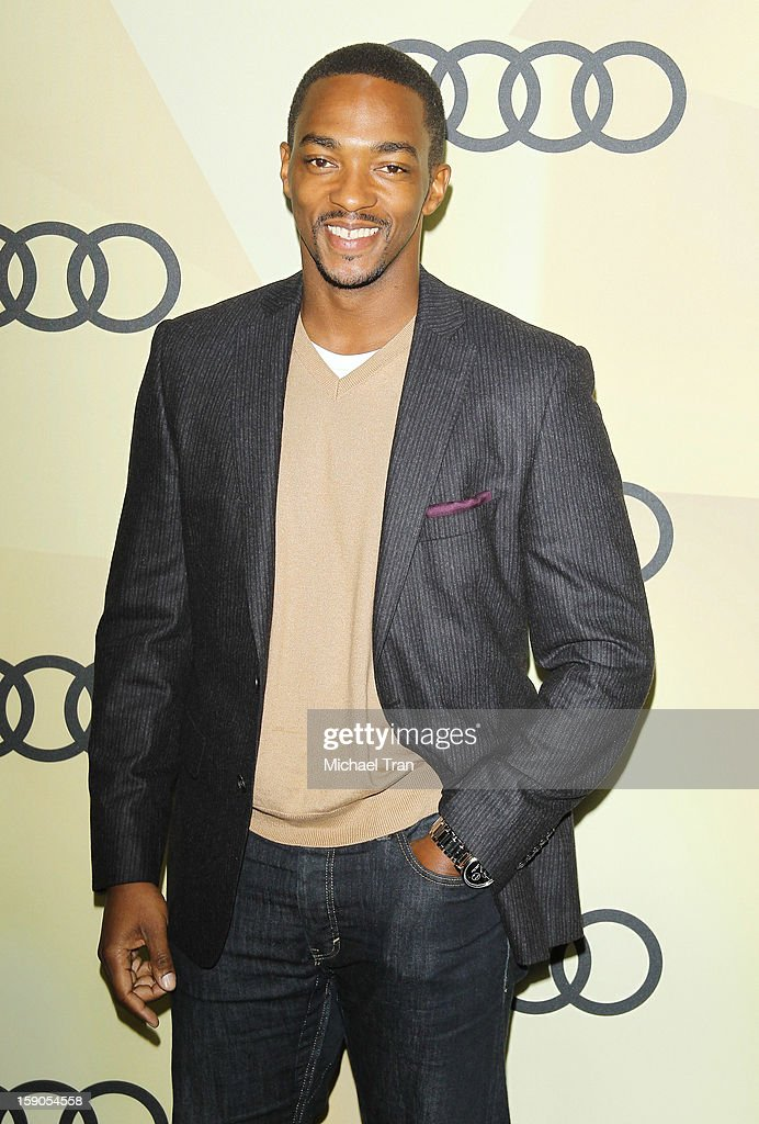 Anthony Mackie arrives at the Audi Golden Globe 2013 kick off cocktail party held at Cecconi's Restaurant on January 6, 2013 in Los Angeles, California.