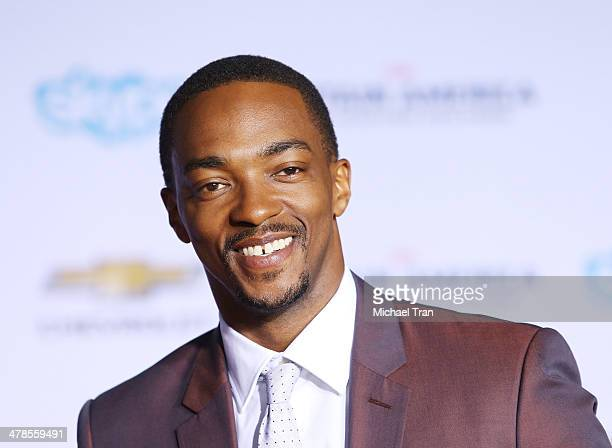 Anthony Mackie arrives at the Los Angeles premiere of 'Captain America The Winter Soldier' held at the El Capitan Theatre on March 13 2014 in...