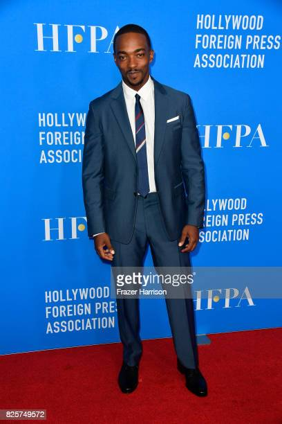 Anthony Mackie attends the Hollywood Foreign Press Association's Grants Banquet at the Beverly Wilshire Four Seasons Hotel on August 2 2017 in...