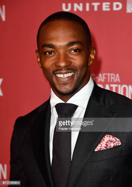 Anthony Mackie attends the SAGAFTRA Foundation Patron of the Artists Awards 2017 at the Wallis Annenberg Center for the Performing Arts on November 9...