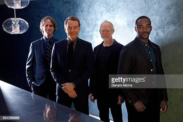 Anthony Mackie Bryan Cranston Jay Roach Robert Schenkkan of 'All The Way' are photographed for Los Angeles Times on May 9 2016 in Los Angeles...