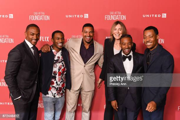Anthony Mackie Malcolm David Kelley Laz Alonso honoree Kathryn Bigelow Algee Smith and Tyler James Williams attend SAGAFTRA Foundation Patron of the...