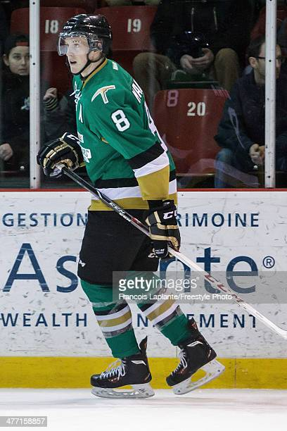 Anthony Mantha of the ValD'Or Foreurs skates against the Gatineau Olympiques during the QMJHL game on February 28 2014 at Robert Guertin Arena in...