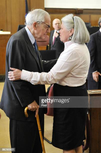 Anthony Marshall son of late philanthropist Brooke Astor and his wife Charlene Marshall are seen in Manhattan Supreme Court today where the defense...