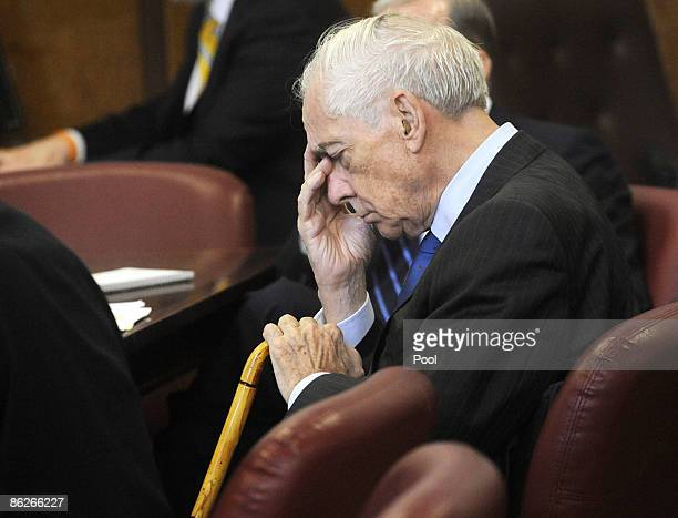 Anthony Marshall son of late philanthropist Brooke Astor is seen in Manhattan Supreme Court today where the defense made opening arguments April 28...