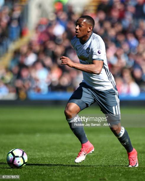 Anthony Martial of Manchester United during the Premier League match between Burnley and Manchester United at Turf Moor on April 23 2017 in Burnley...