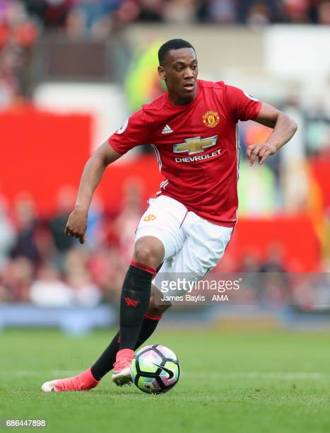 Anthony Martial of Manchester United during the Premier League match between Manchester United and Crystal Palace at Old Trafford on May 21 2017 in...