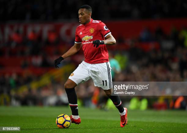 Anthony Martial of Manchester United during the Premier League match between Manchester United and Newcastle United at Old Trafford on November 18...