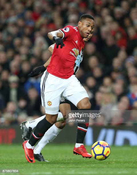 Anthony Martial of Manchester United in action during the Premier League match between Manchester United and Newcastle United at Old Trafford on...
