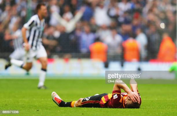 Anthony McMahon of Bradford City looks dejected in defeat after the Sky Bet League One Playoff Final between Bradford City and Millwall at Wembley...