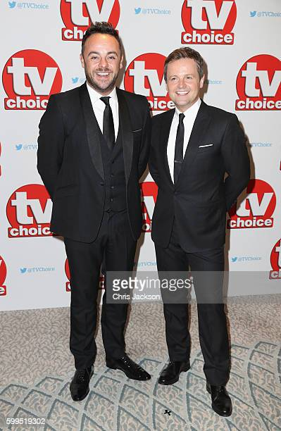 Anthony McPartlin and Declan Donnelly arrive for the TV Choice Awards at The Dorchester on September 5 2016 in London England