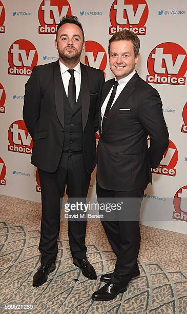 Anthony McPartlin and Declan Donnelly arrive for the TVChoice Awards at The Dorchester on September 5 2016 in London England