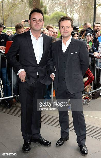 Anthony McPartlin and Declan Donnelly attend the 2014 TRIC Awards at The Grosvenor House Hotel on March 11 2014 in London England