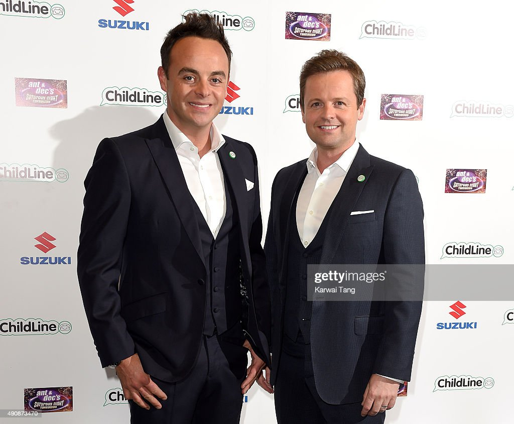Anthony McPartlin and <a gi-track='captionPersonalityLinkClicked' href=/galleries/search?phrase=Declan+Donnelly&family=editorial&specificpeople=206200 ng-click='$event.stopPropagation()'>Declan Donnelly</a> attend the Ant & Dec's Saturday Night Takeaway Childline Ball at Old Billingsgate Market on October 1, 2015 in London, England.