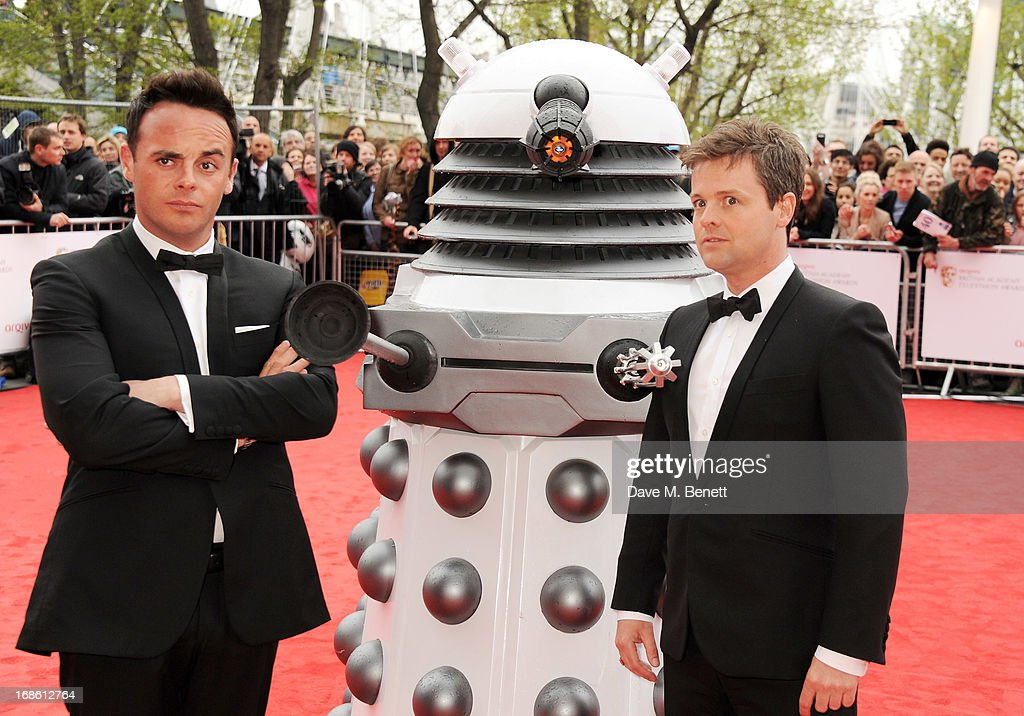 Anthony McPartlin (L) and Declan Donnelly attend the Arqiva British Academy Television Awards 2013 at the Royal Festival Hall on May 12, 2013 in London, England.