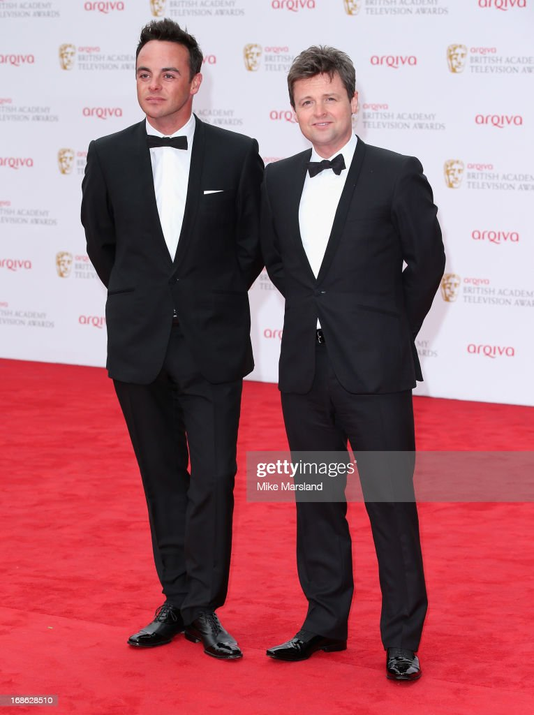 Anthony McPartlin and <a gi-track='captionPersonalityLinkClicked' href=/galleries/search?phrase=Declan+Donnelly&family=editorial&specificpeople=206200 ng-click='$event.stopPropagation()'>Declan Donnelly</a> attend the Arqiva British Academy Television Awards 2013 at the Royal Festival Hall on May 12, 2013 in London, England.
